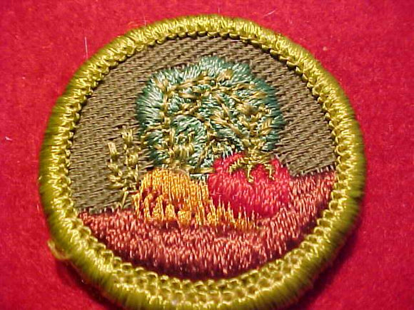 GARDENING, ROLLED EDGE TWILL BKGR. MERIT BADGE