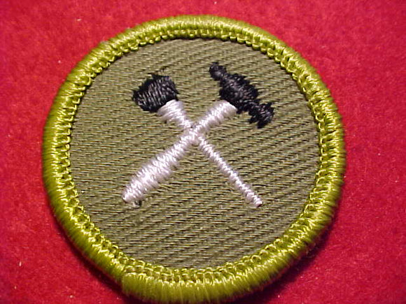 HANDICRAFT/HOME REPAIRS, ROLLED EDGE TWILL BKGR. MERIT BADGE