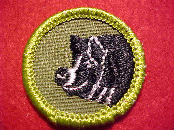 HOG PRODUCTION, ROLLED EDGE TWILL BKGR. MERIT BADGE