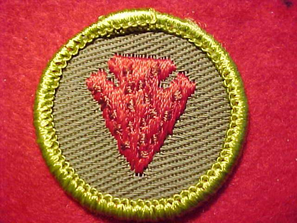 INDIAN LORE, ROLLED EDGE TWILL BKGR. MERIT BADGE