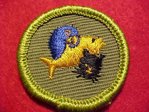 PETS, ROLLED EDGE TWILL BKGR. MERIT BADGE