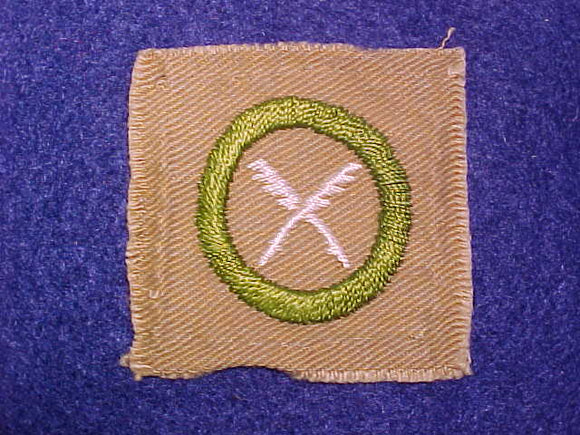 BUSINESS SQUARE MERIT BADGE, 50X49 MM, USED