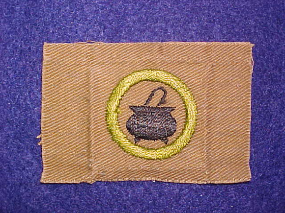 COOKING SQUARE MERIT BADGE, 74X50 MM, USED