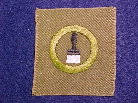 PAINTING SQUARE MERIT BADGE, 54X58 MM, USED