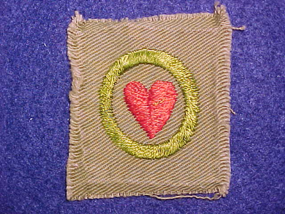 PERSONAL HEALTH SQUARE MERIT BADGE, 46X53 MM, USED