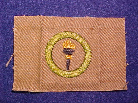 PUBLIC HEALTH SQUARE MERIT BADGE, 79X53 MM, USED