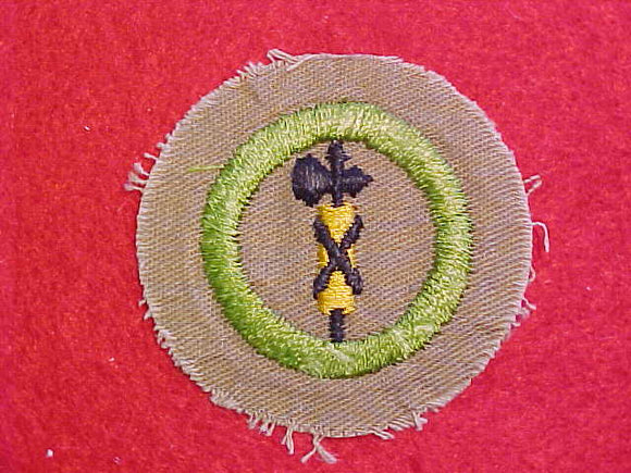 CIVICS MERIT BADGE, FINE TWILL, WWII ISSUE, MINT