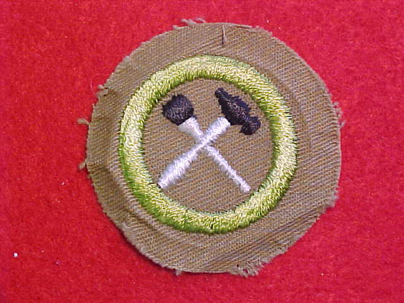 HOME REPAIRS MERIT BADGE, FINE TWILL, WWII ISSUE, MINT