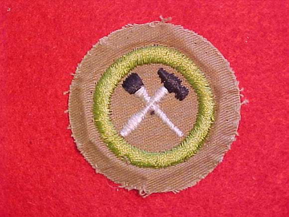 HOME REPAIRS MERIT BADGE, FINE TWILL, WWII ISSUE, USED