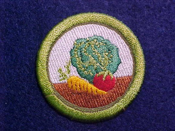 GARDENING MERIT BADGE, COMPUTER DESIGNED 1993 ISSUE,, 41MM DIAMETER