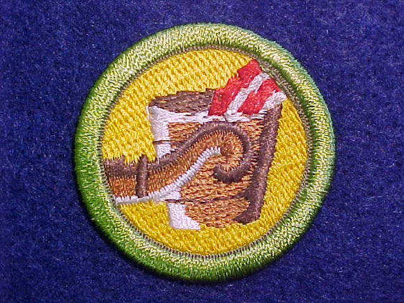 METALS ENGINEERING MERIT BADGE, COMPUTER DESIGNED 1993 ISSUE,, 41MM DIAMETER