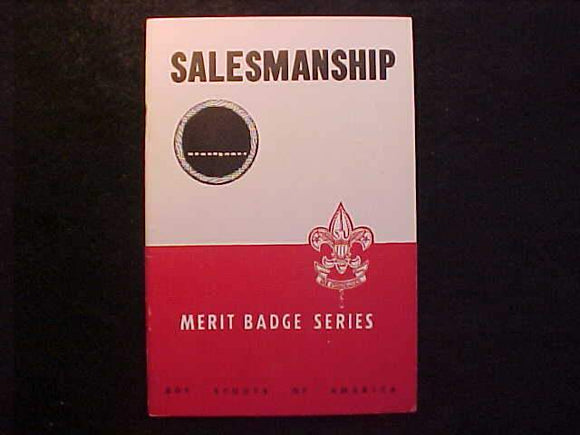 SALESMANSHIP MERIT BADGE BOOK, TYPE 5B COVER, COPYRIGHT 1942, AUG. 1948 PRINTING, MINT COND.