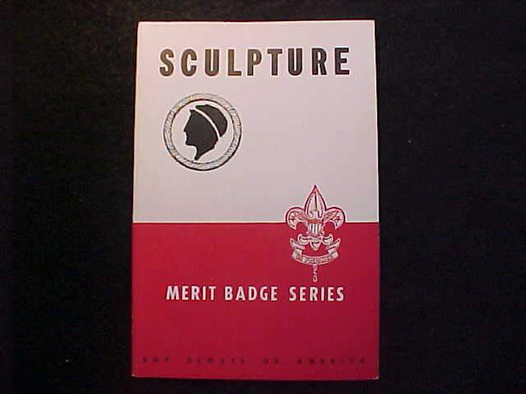 SCULPTURE MERIT BADGE BOOK, TYPE 5B COVER, COPYRIGHT 1945, JUNE 1945 PRINTING,MINT COND.