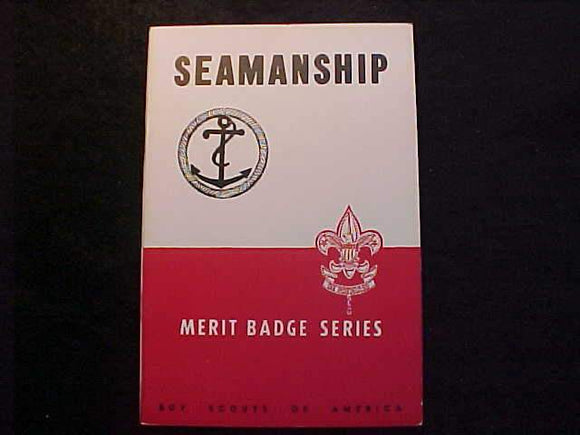 SEAMANSHIP MERIT BADGE BOOK, TYPE 5B COVER, COPYRIGHT 1945, APRIL 1947 PRINTING, MINT COND.