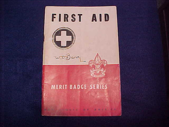 First Aid, Type 5B, copyright 1942, March 1946 printing, good cond.