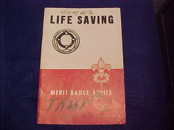 Life Saving, Type 5B, copyright 1944, April 1946 printing, fair cond.
