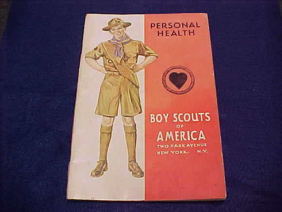 Personal Health, Type 4, copyright 1942, July 1942 printing, good cond.-small tear in cover