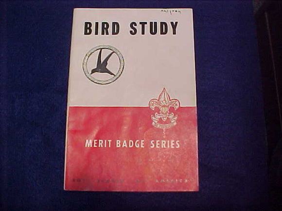 Bird Study, Type 5B, copyright 1938, August 1951 printing, good cond.