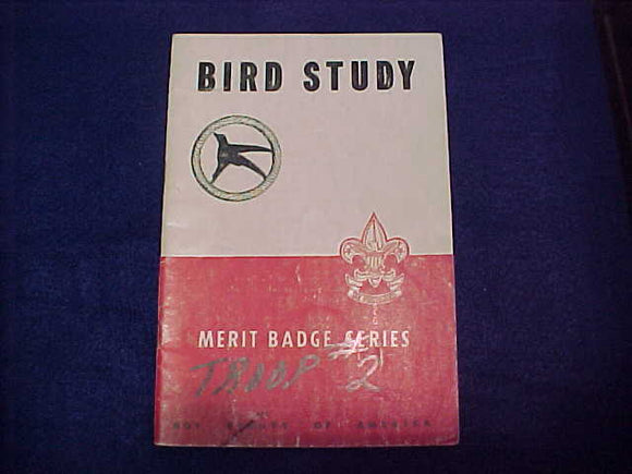 Bird Study, Type 5B, copyright 1938, September 1949 printing, MB on cover is turned upright, fair cond.