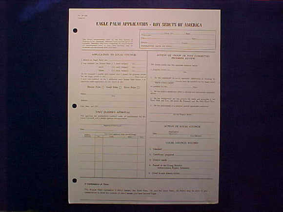 EAGLE PALM APPLICATION, 3/1979 PRINTING