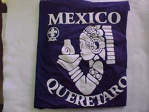2016 MICHIGAN INTERNATIONAL CAMPOREE T-SHIRT, QUERETARO, MEXICO, SIZE MEDIUM
