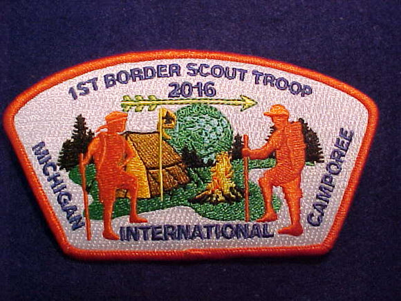 MICHIGAN INTERNATIONAL CAMPOREE HAT, COSTA RICA TROOP 25