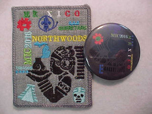 2016 MICHIGAN INTERNATIONAL CAMPOREE PATCH & PIN SET, MEXICO CONTIGENT