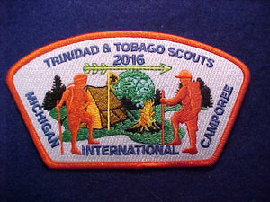 2016 MICHIGAN INTERNATIONAL CAMPOREE SHOULDER PATCH, TRINIDAD & TOGAGO SCOUTS