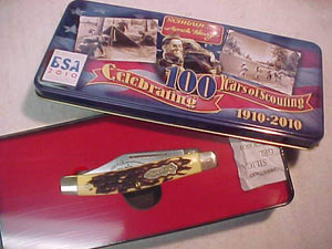 BSA KNIFE, 2010 UNCLE HENRY 100TH ANNIV., MINT IN ORIG. METAL BOX