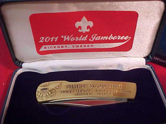 BSA CONTIGENT KNIFE, 2011 WORLD SCOUT JAMBOREE, MINTED BY NORTHWEST TERRITORIAL MINT, IN ORIG. BOX