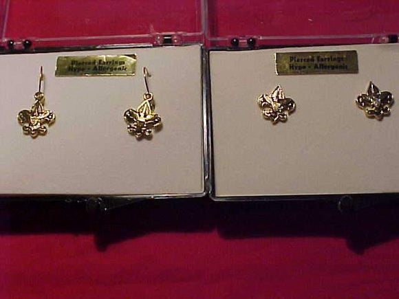 BSA EARRINGS, 2 DIFFERENT PAIRS, MINT IN ORIG. BOX
