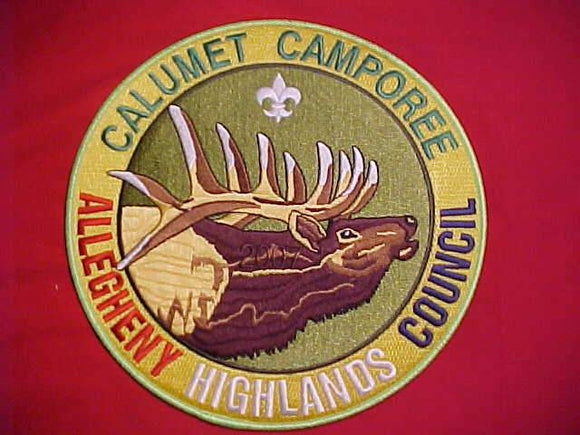 BSA JACKET PATCH, 2007 CALUMET CAMPOREE, ALLEGHENY HIGHLANDS C., 7.5