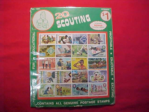 BOY SCOUT STAMPS (20), 1975-77, SEVEN NORDJAMB ISSUES