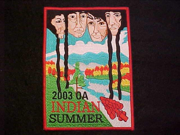 OA JACKET PATCH, 2003 INDIAN SUMMER