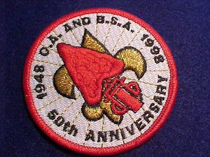 OA & BSA PATCH, 1948-1998, 50TH ANNIV.