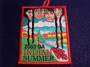 OA POCKET PATCH, 2003 INDIAN SUMMER