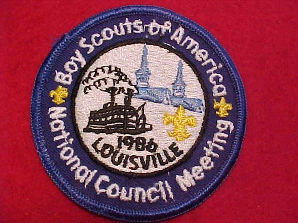 1986 BSA NATIONAL COUNCIL MEETING PATCH, LOUISVILLE