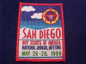1999 BSA NATIONAL ANNUAL MEETING PATCH, SAN DIEGO