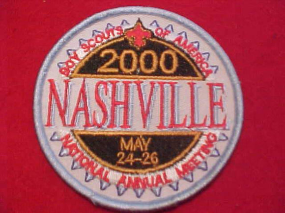 2000 BSA NATIONAL ANNUAL MEETING PATCH, NASHVILLE