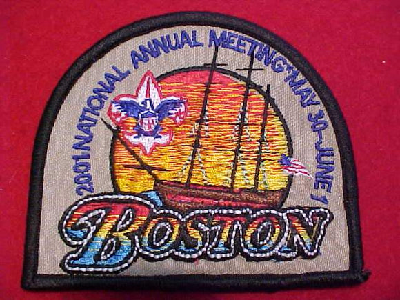 2001 BSA NATIONAL ANNUAL MEETING PATCH, BOSTON