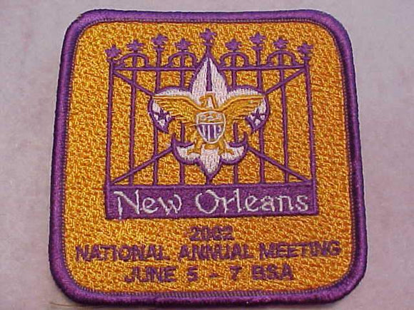 2002 BSA NATIONAL ANNUAL MEETING PATCH, NEW ORLEANS