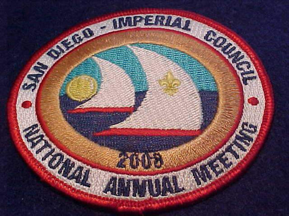 2008 BSA NATIONAL ANNUAL MEETING PATCH, SAN DIEGO - IMPERIAL COUNCIL