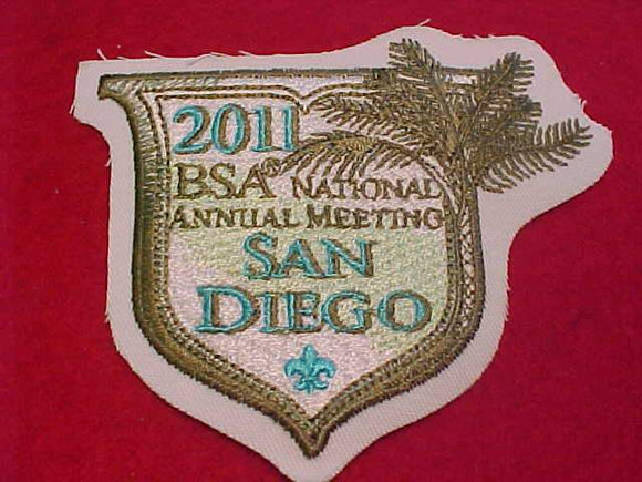 2011 BSA NATIONAL ANNUAL MEETING PATCH, SAN DIEGO