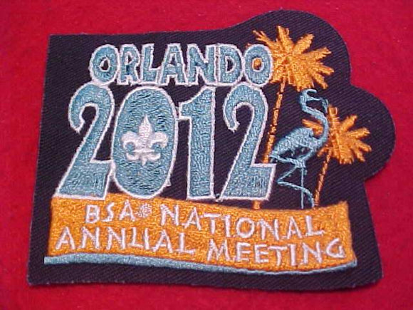 2012 BSA NATIONAL ANNUAL MEETING PATCH, ORLANDO