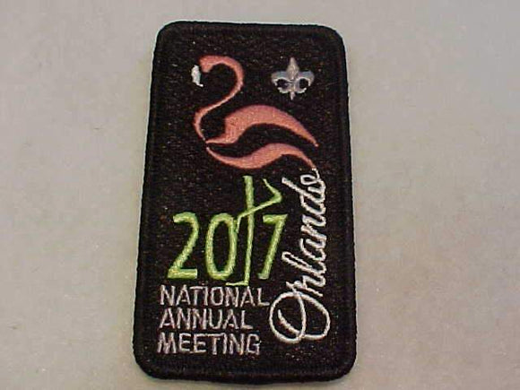 2017 BSA NATIONAL ANNUAL MEETING PATCH, ORLANDO