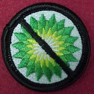 No B-P (No British Petroleum) spoof merit badge