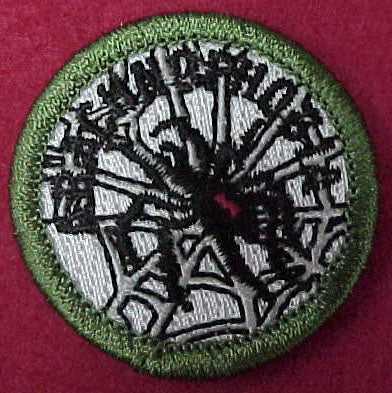 Arachnophobia (fear of spiders) spoof merit badge