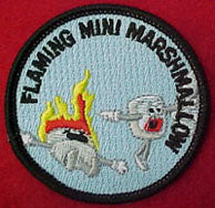 flaming mini marshmallow patrol patch