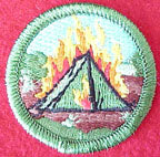 tent burning spoof merit badge