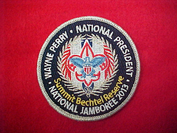 2013 Wayne Perry National President Patch, fully embroidered